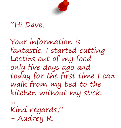 cutting lectin foods from diet testimonial